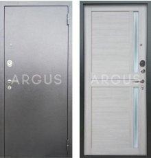 Дверь Аргус Люкс АС Мирра Буксус / Серебро Антик