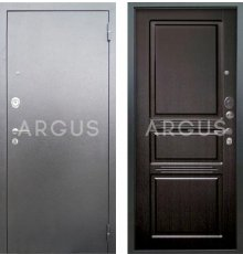 Дверь Аргус Люкс АС Сабина Венге / Серебро Антик