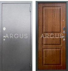 Дверь Аргус Люкс АС Сабина Дуб Золотой / Серебро Антик
