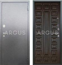 Дверь Аргус Люкс АС Сенатор Венге / Серебро Антик
