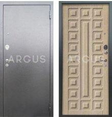 Дверь Аргус Люкс АС Сенатор Капучино / Серебро Антик