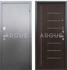 Дверь Аргус Люкс АС Фриза Венге / Серебро Антик