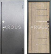 Дверь Аргус Люкс АС Фриза Капучино / Серебро Антик фото