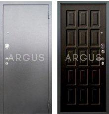 Дверь Аргус Люкс АС Шоколад Венге / Серебро Антик