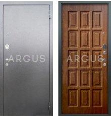 Дверь Аргус Люкс АС Шоколад Дуб Золотой / Серебро Антик