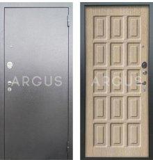 Дверь Аргус Люкс АС Шоколад Капучино / Серебро Антик