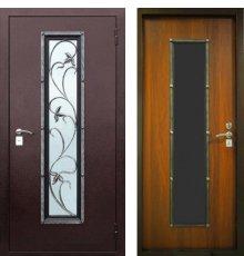 Дверь ЗД Лоза-1 с ковкой 1 сувальдный замок