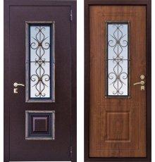 Дверь ЗД Ажур-1 с ковкой 1 сувальдный замок