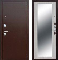 Дверь Цитадель Царское зеркало Maxi Медный антик/Белый ясень