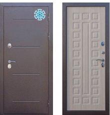 Дверь Цитадель ISOTERMA 11 см Медный антик/Лиственница Мокко с терморазрывом