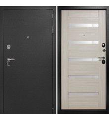 Входная металлическая дверь Континент Гарант-1 Царго (Серебристый антик / Лиственица беленая)