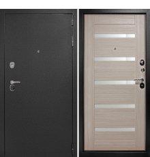 Входная металлическая дверь Континент Гарант-1 Царго (Серебристый антик /Капучино)