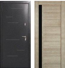 Дверь Меги 573 Серебро / Капучино