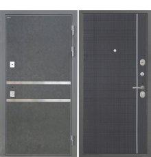 Дверь Интекрон Неаполь Штукатурка графит Венге L-5 фото