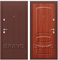 Дверь Bravo Стройгост 7-2 Антик Медь/М-11 (ИталОрех) фото