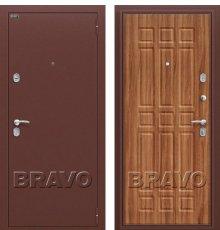 Дверь Bravo Старт Антик Медь/П-8 (Янтарный Дуб) фото