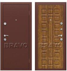 Дверь Bravo Йошкар Антик Медь/П-17 (Золотистый Дуб) фото