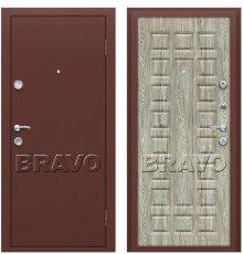 Дверь Bravo Йошкар Антик Медь/П-18 (Ель Карпатская) фото