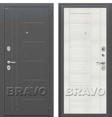 Двери Bravo Проф Антик Серебро/Bianco Veralinga