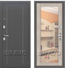 Дверь Bravo T2-220 Антик Серебро/Cappuccino Veralinga