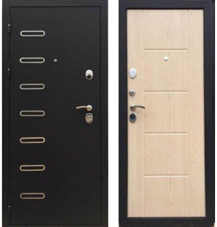 Дверь Дива МД-21 Черный бархат / Дуб беленый