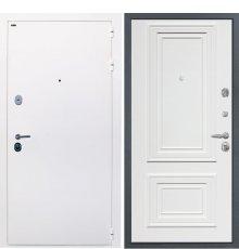 "Дверь Интекрон ""Колизей white"" Белая шагрень/Сан Ремо 1 RAL 9003"