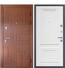 """Дверь Интекрон """"Элит"""" Лиственница кофе/Сан Ремо 1 RAL 9003"""