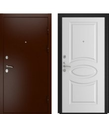 Дверь Luxor-3A Белая эмаль Л-1