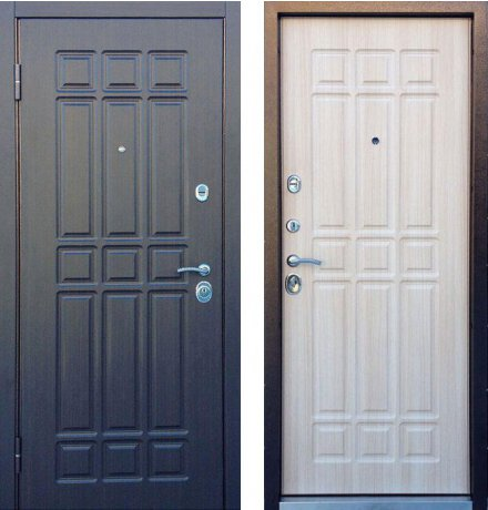 Дверь Персона Техно 3 Венге/Беленый венге фото