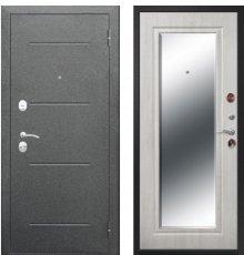 Дверь Цитадель Серебро Зеркало Фацет Белый ясень