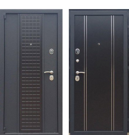 Дверь Персона Модерн Черный шелк/Венге фото