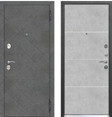 Дверь Цитадель 9 см БРУКЛИН Бетон графит / Бетон пепельный