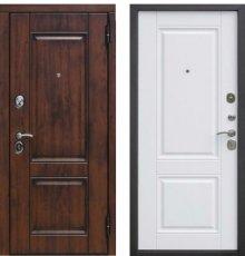 Дверь Цитадель Вена Грецкий орех/Белый матовый