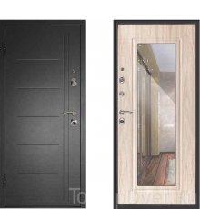 Дверь Континент Сити Беленый дуб с зеркалом фото