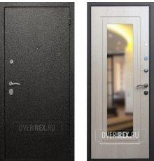 Двери Верона 6 Зеркало Беленый Дуб