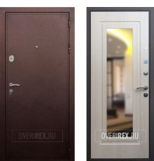 Дверь ReX 5А Зеркало Беленый дуб
