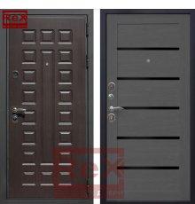 Дверь Премиум 3 CБ-14 Лиственница серая + черное стекло