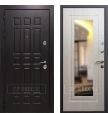 Дверь REX 8 Зеркало Беленый дуб