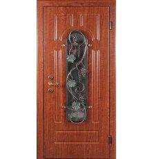 Двери с витражами и ковкой ДВК-3001