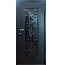 Двери с витражами и ковкой ДВК-3002