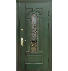 Двери с витражами и ковкой ДВК-3005