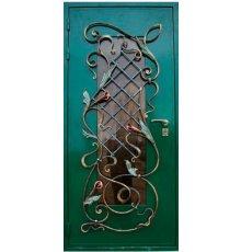 Двери с витражами и ковкой ДВК-3006