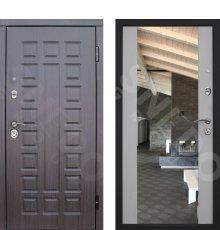 Дверь Снедо S01 2К венге/ белая лиственница зеркало