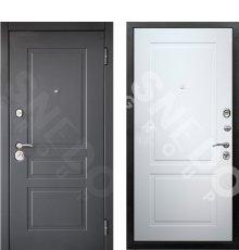 Дверь Снедо Лорд 2К шагрень графит/белый матовый 9003