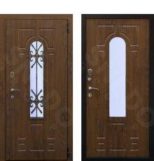 Дверь Снедо Лацио 3К винорит грецкий орех ( стеклопакет+ковка)