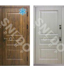 Дверь Снедо Сибирь Термо Премиум темный дуб/ белая лиственница