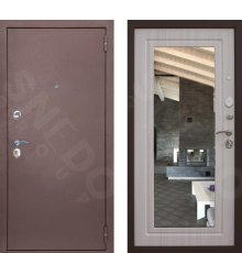 Дверь Снедо Патриот зеркало лиственница беленная фото