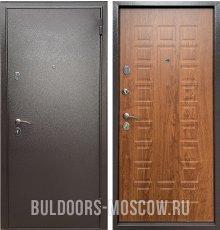 Дверь Бульдорс Econom Букле шоколад/Дуб золотой Е-110 фото