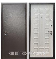 Дверь Бульдорс Econom Букле шоколад/Ларче Бьянко Е-110 фото