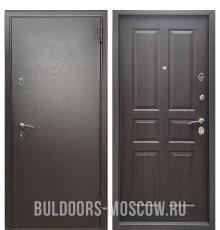 Дверь Бульдорс Econom Букле шоколад/Ларче шоколад С-2 фото